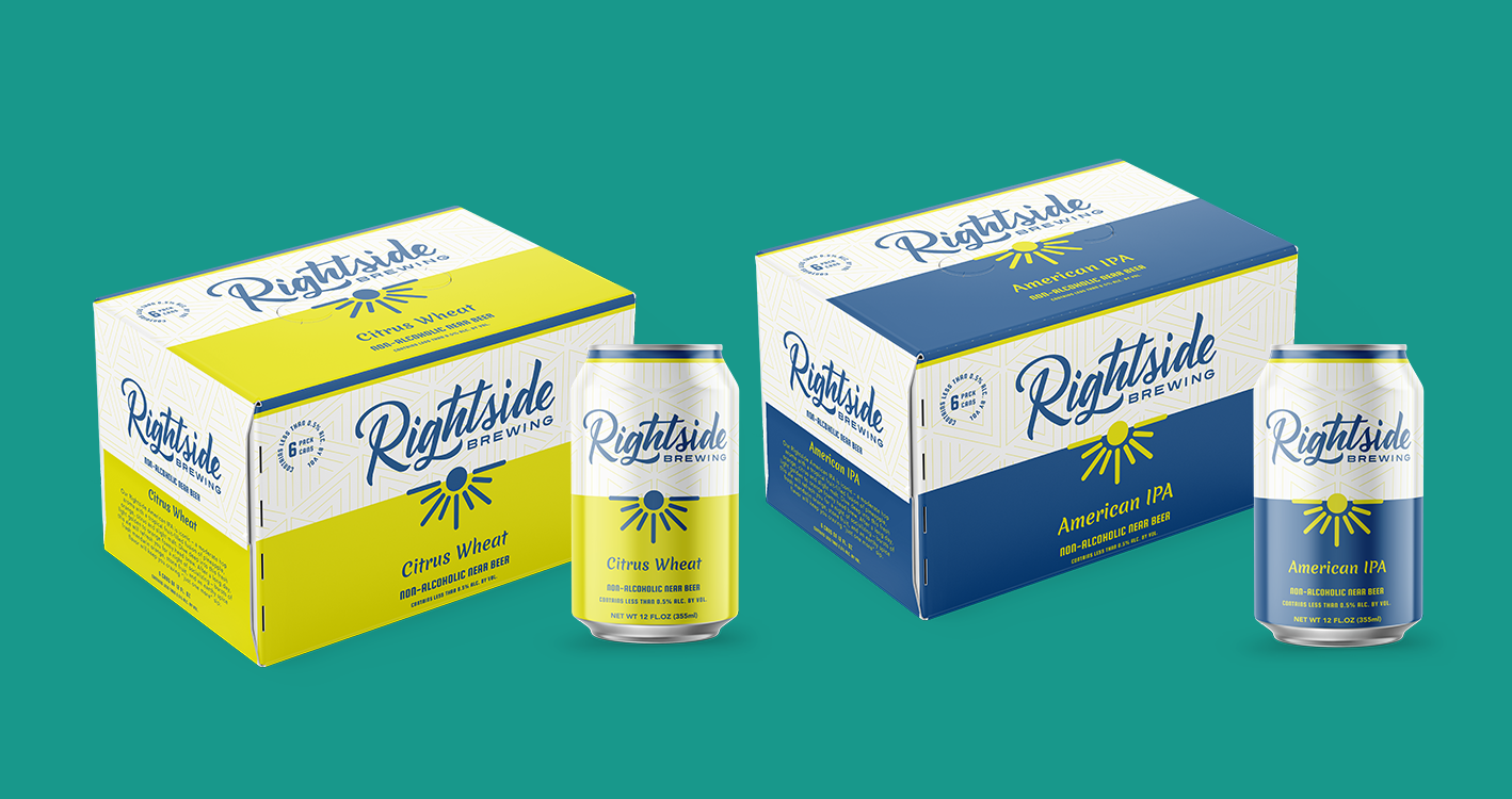 Rightside Citrus Wheat non alcoholic beer